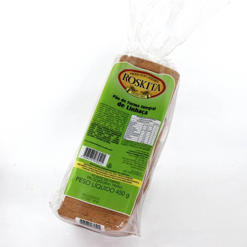Pão de Forma Integral de Linhaça 450g (Nova Embalagem/Novo Produto) Experimente!!!