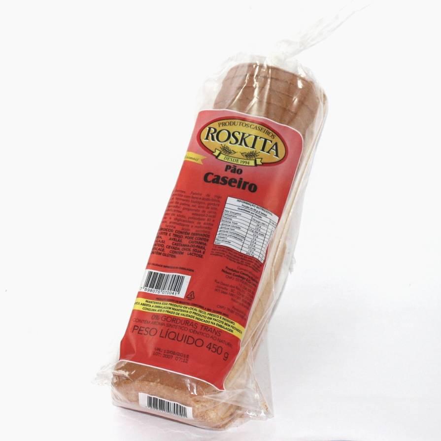 Pão Caseiro 450g (Nova Embalagem /Novo Produto) Experimente!!!